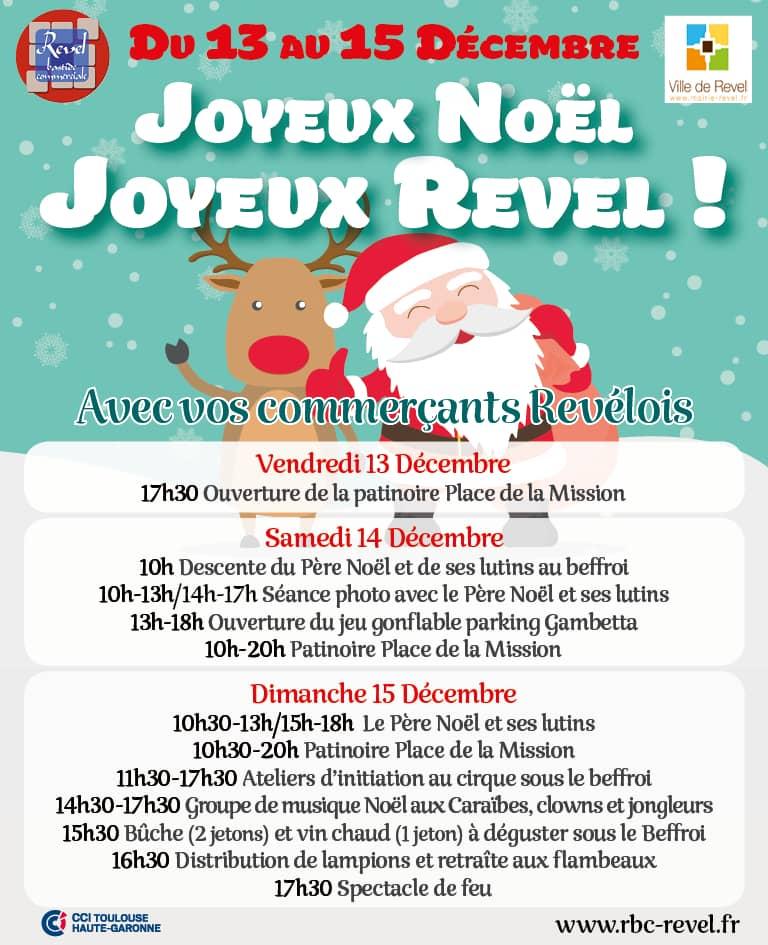 Agenda des manifestations de Noël de Revel