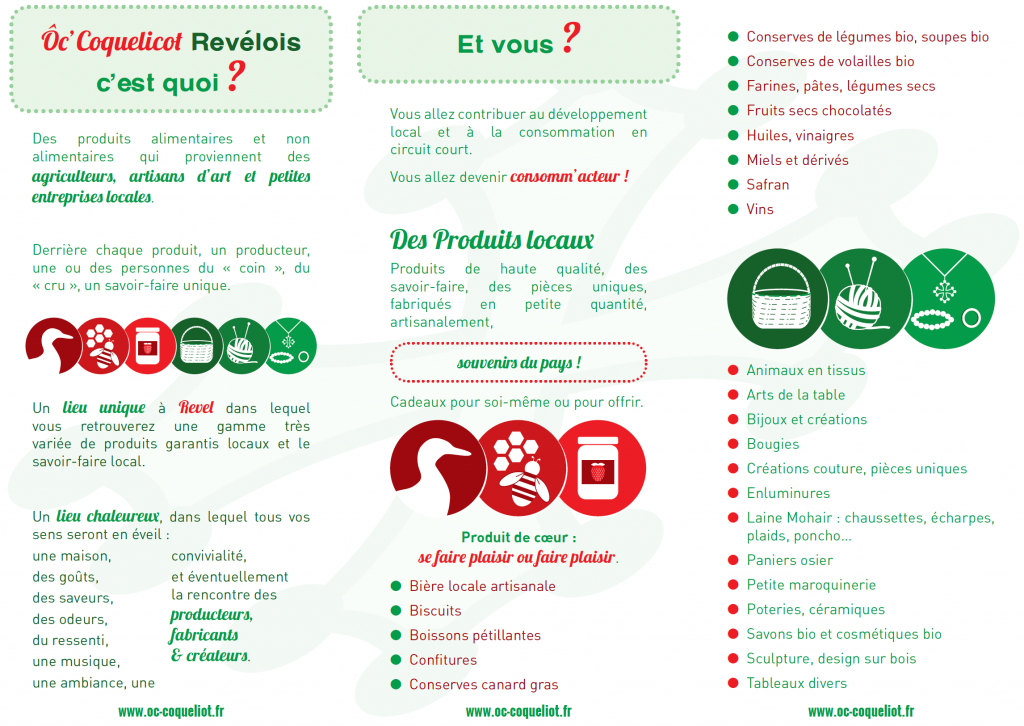informations boutique O Coquelicot Revel