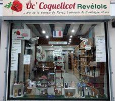 vitrine de la boutique ocoquelicot à Revel